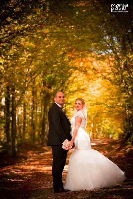 foto de nunta realizata toamna