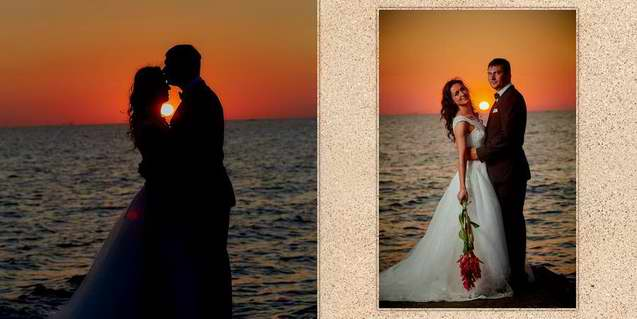 Album de nunta trash the dress pe malul marii