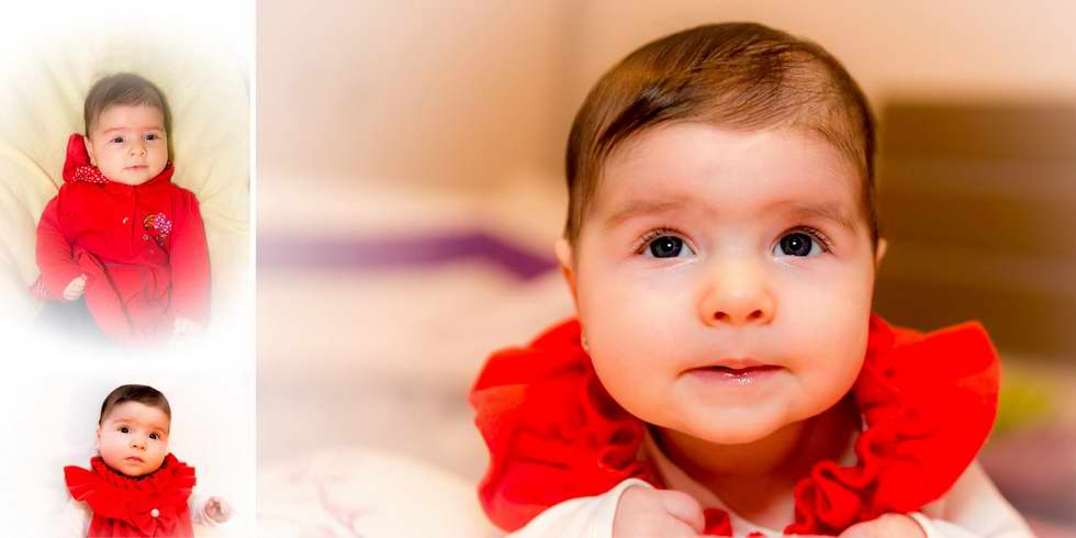 Album foto cu fetita si parinti