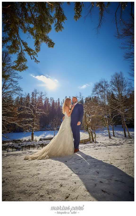 Fotografii mire si mireasa iarna