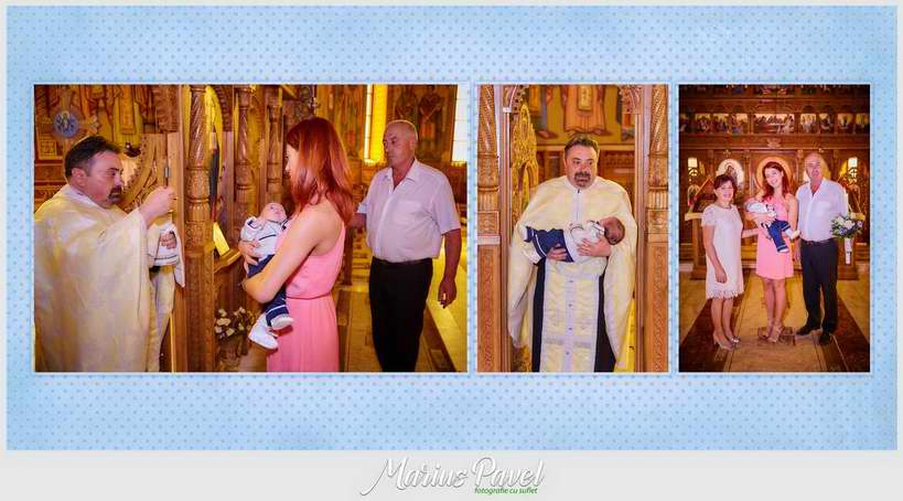 Colaje personalizate din albumul de botez